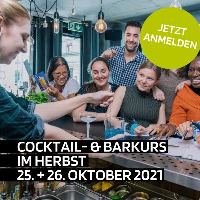 Aktuelle Cocktail- und Barkurse im Herbst