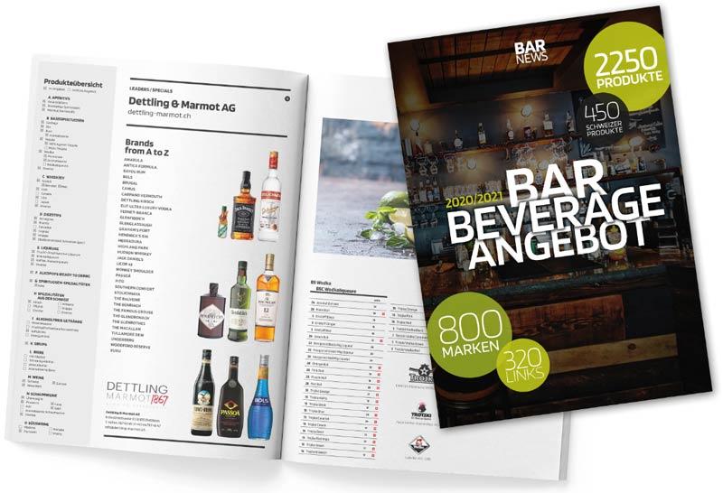 Bar Beverage Angebot - Lieferantenverzeichnis für Handel und Gastronomie