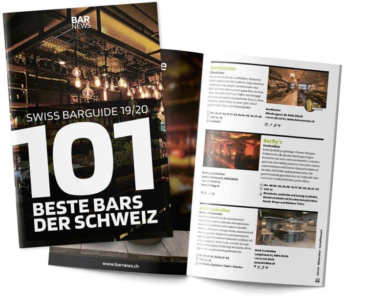 Swiss Barguide - die 101 besten Bars der Schweiz