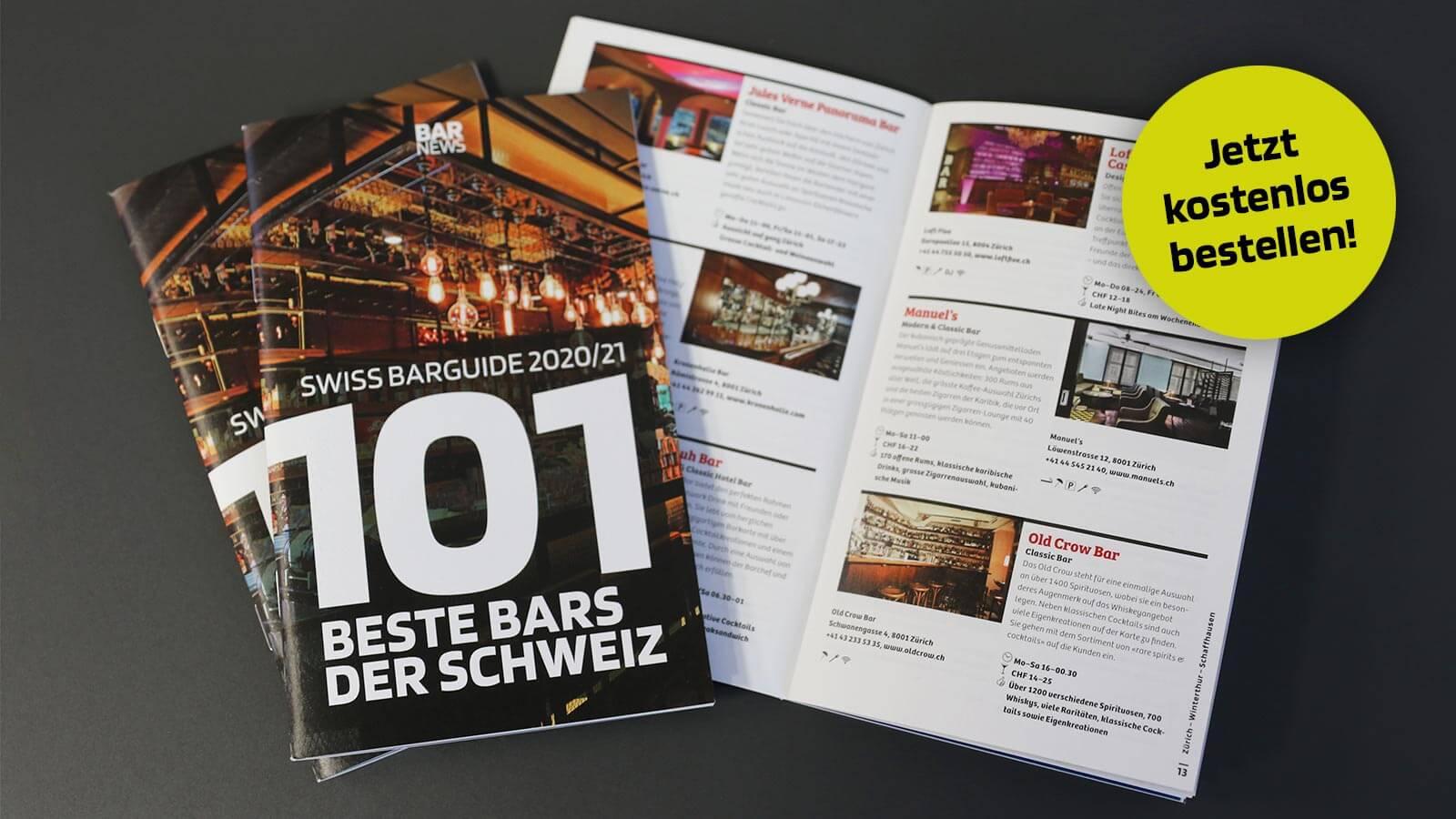 101 beste Bars der Schweiz - Swiss Barguide